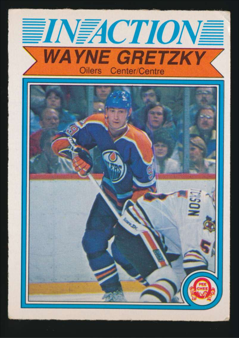 1982-83 OPC Wayne Gretzky In Action #107 card front image