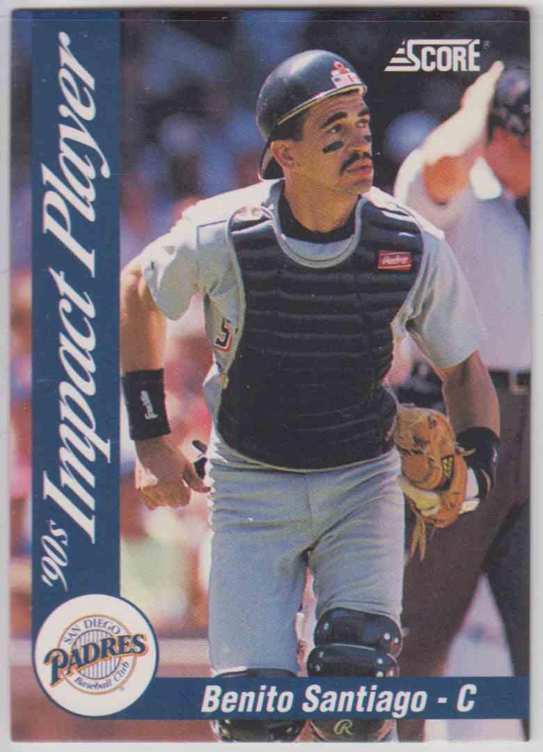 1992 Score Impact Player Benito Santiago #58 card front image