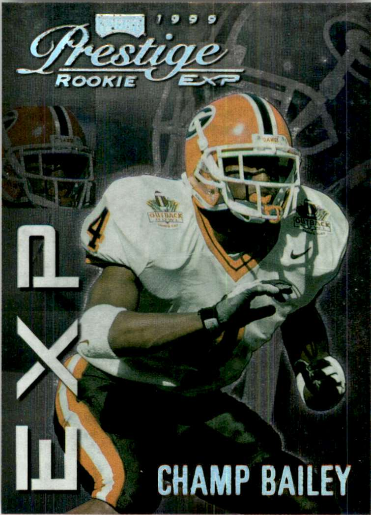1999 Playoff Prestige Exp Reflections Silver Champ Bailey #EX36 card front image