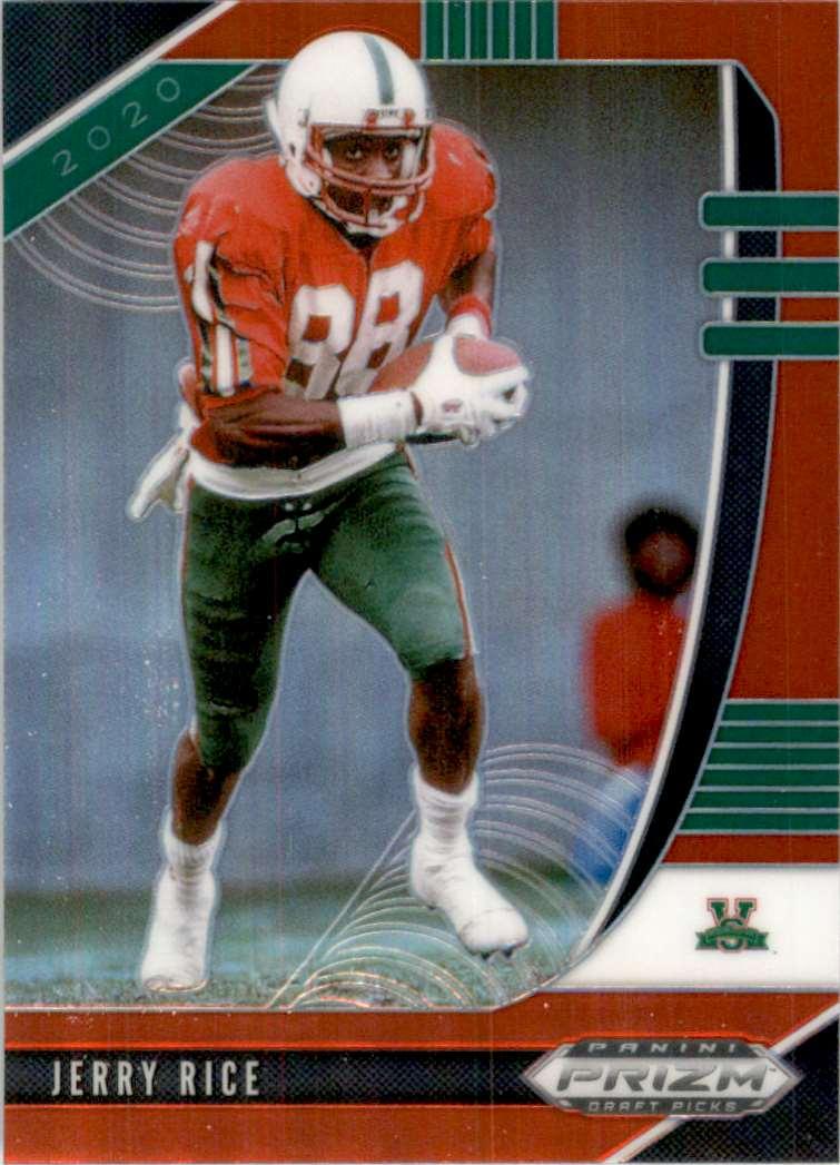 2020 Panini Prizm Draft Picks Prizms Red Jerry Rice #51 card front image