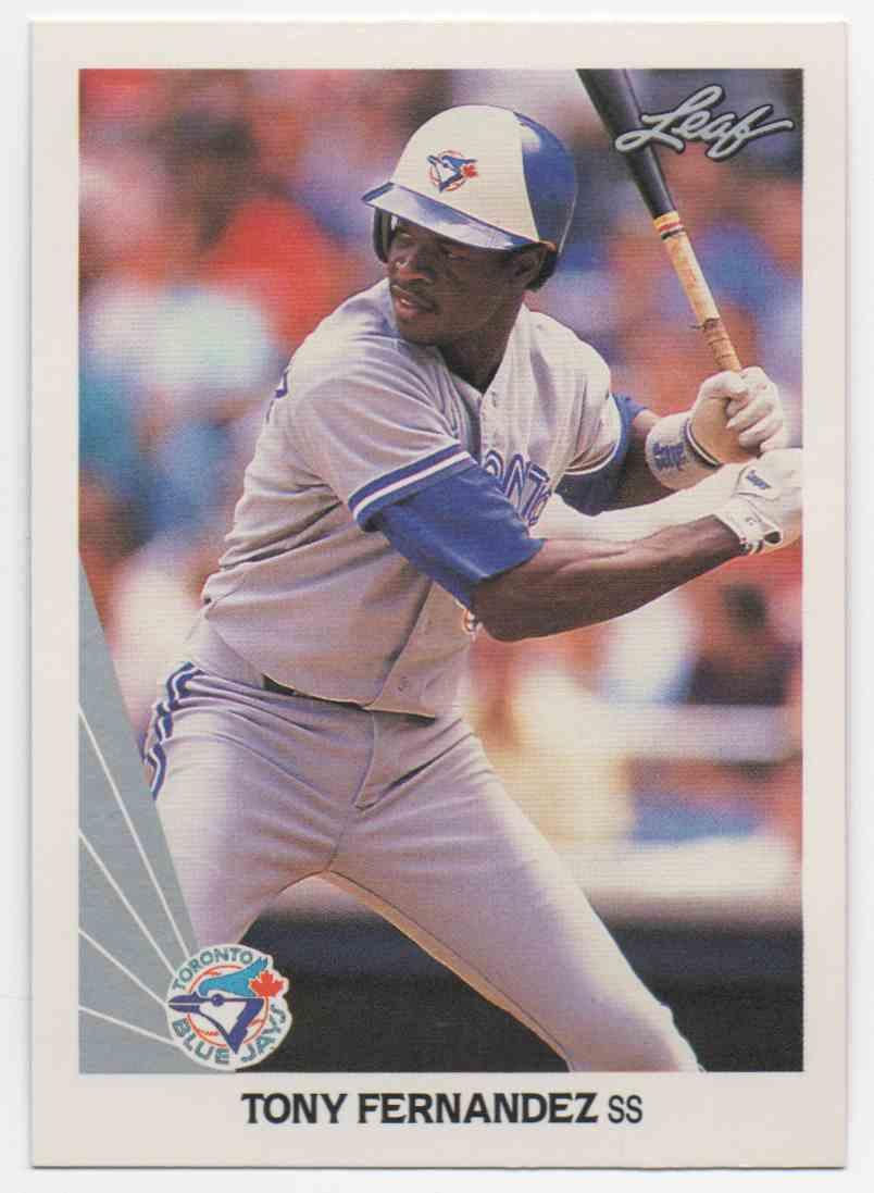 1990 Leaf Tony Fernandez #53 card front image