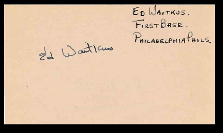 1941 3X5 Eddie Waitkus card front image