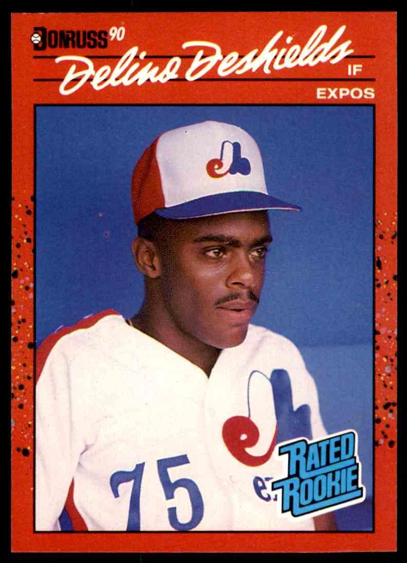 1990 Donruss Delino DeShields #42 card front image