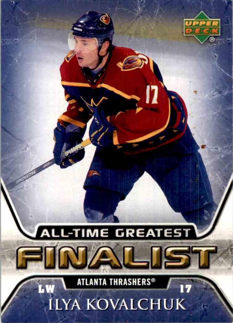 2005-06 Upper Deck All Time Greatest Ilya Kovalchuk #3 card front image