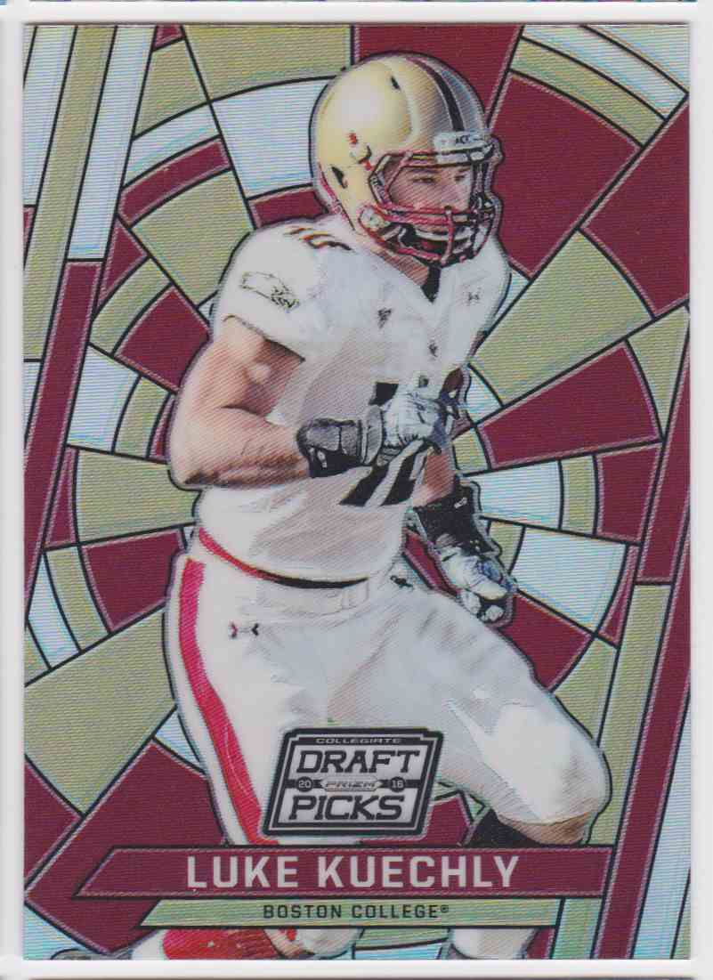 huge discount d3740 6f584 Details about 2016 PANINI PRIZM LUKE KUECHLY BOSTON COLLEGE EAGLES #58