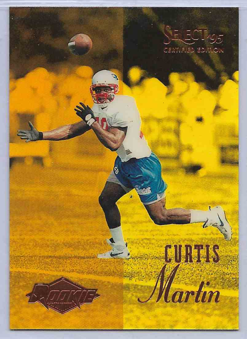 1995 Select Certified Edition Curtis Martin #117 card front image