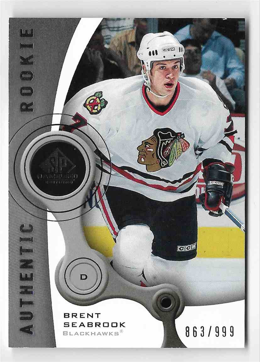 2005-06 SP Game Used Brent Seabrook #122 card front image