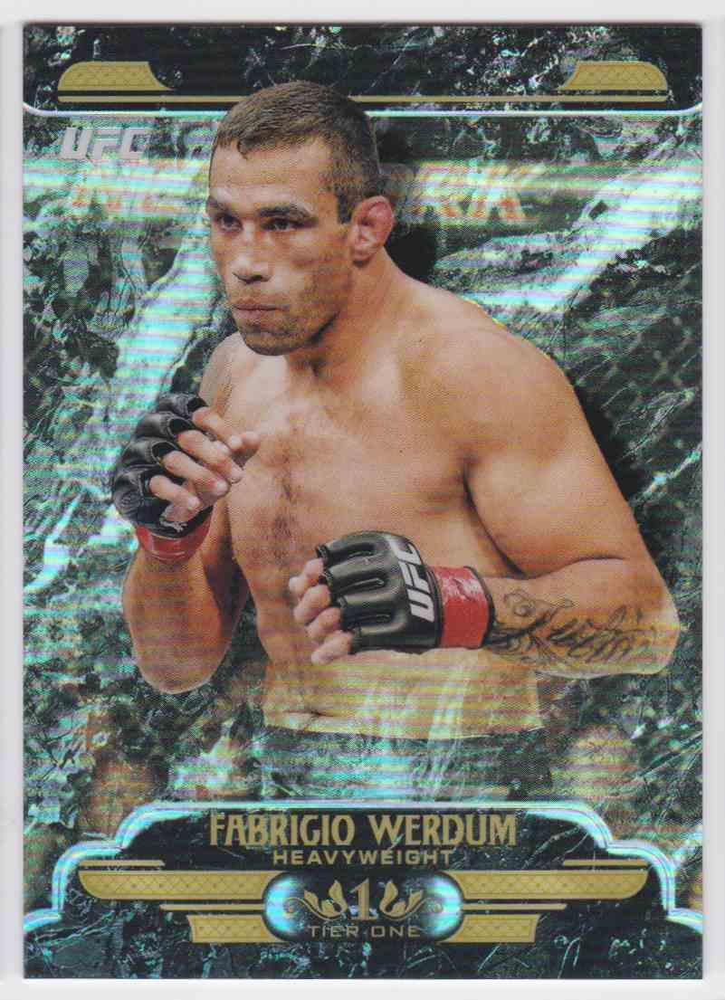 2017 Topps Tier One Refractor Fabrigio Werdum #UT-FW card front image