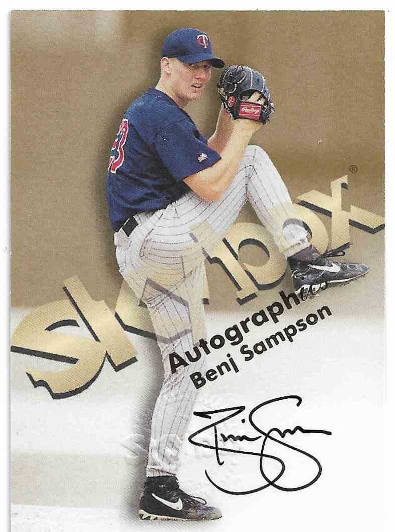 1999 Skybox Premium Benj Sampson #BESA card front image