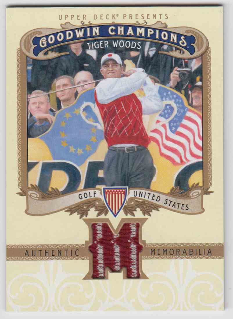 2012 Goodwin Champions Tiger Woods #M-TW card front image