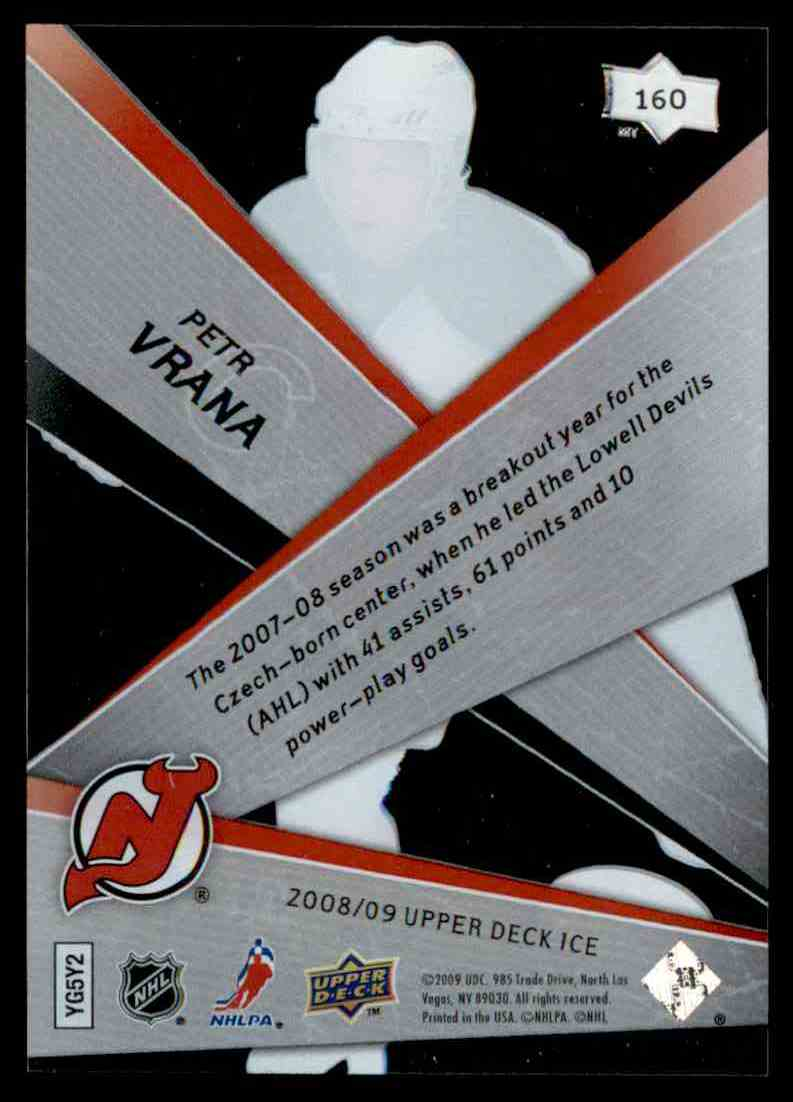 2008-09 Upper Deck Ice Petr Vrana #160 card back image