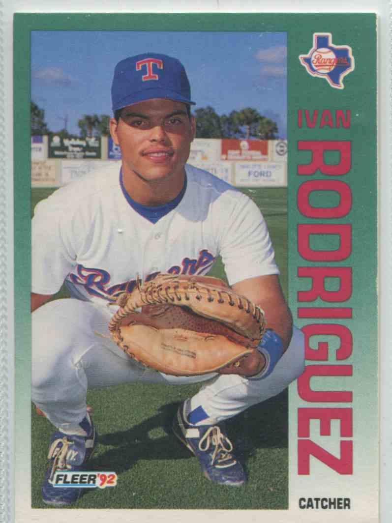 1992 Fleer Ivan Rodriguez 316 On Kronozio