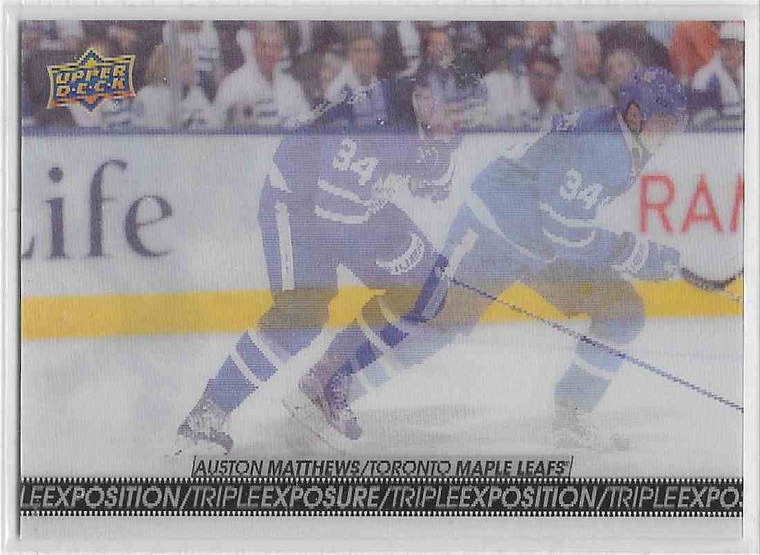2017-18 Upper Deck Tim Horton Auston Matthews #TE-5 card front image