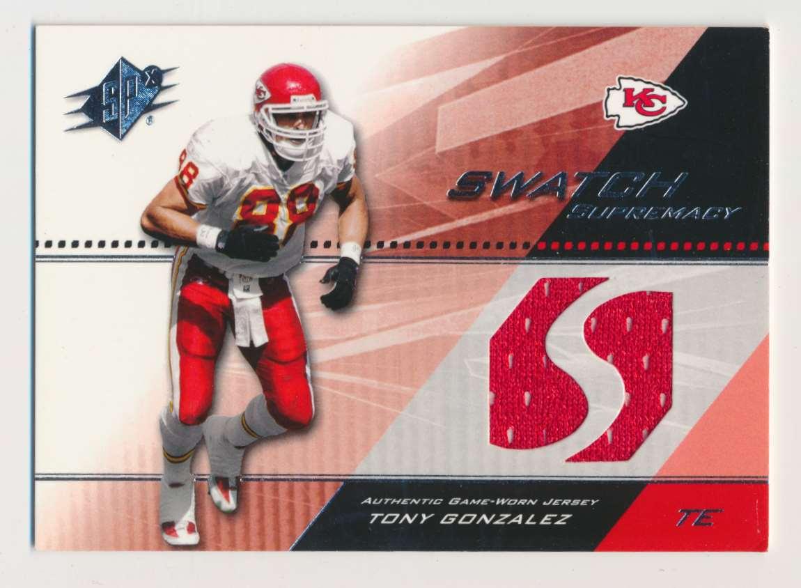 2004 SPx Swatch Supremacy Tony Gonzalez B #SW-TG card front image