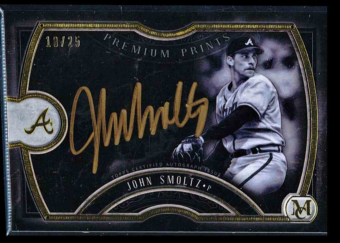 2018 Topps Museum Collection Premium Prints John Smoltz #PPA-JS card front image