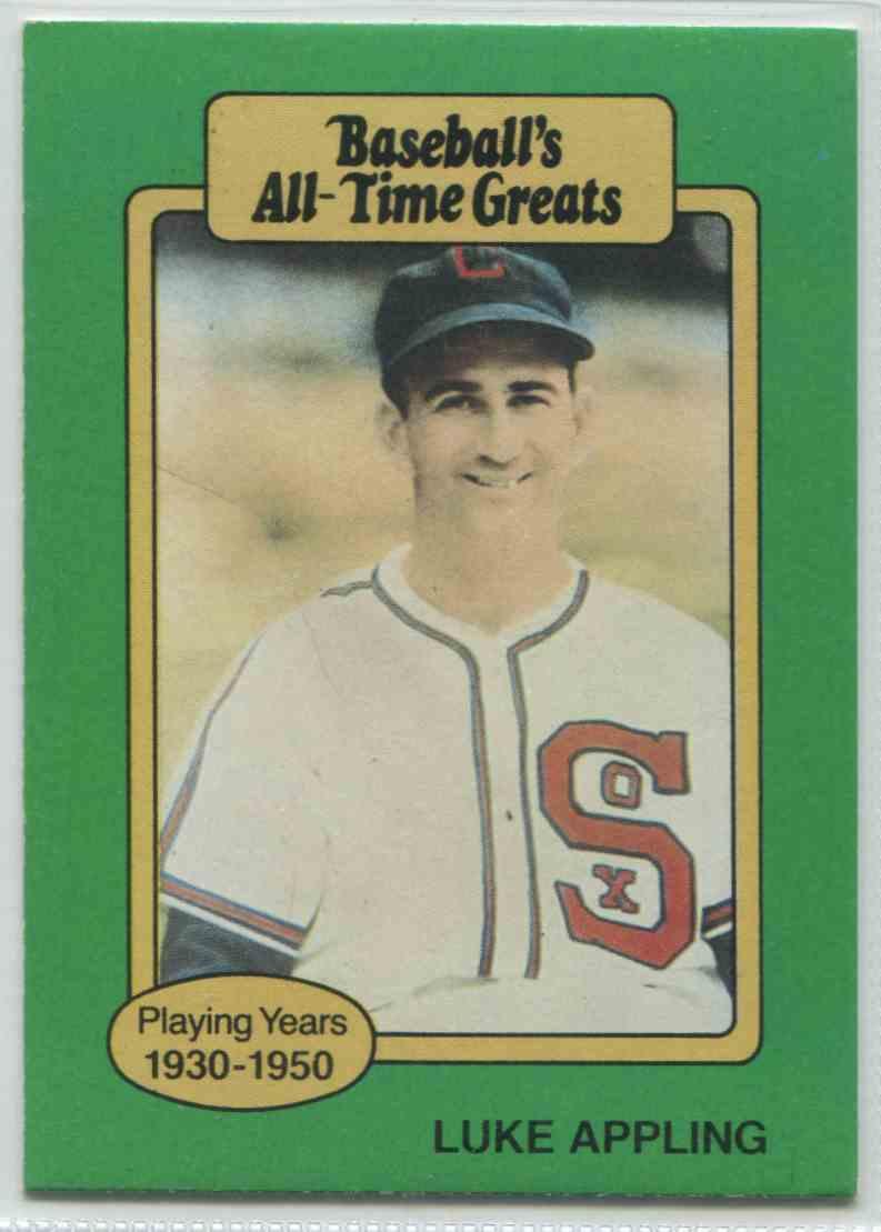 1987 Baseball39s All Time Greats Luke Appling Nno On