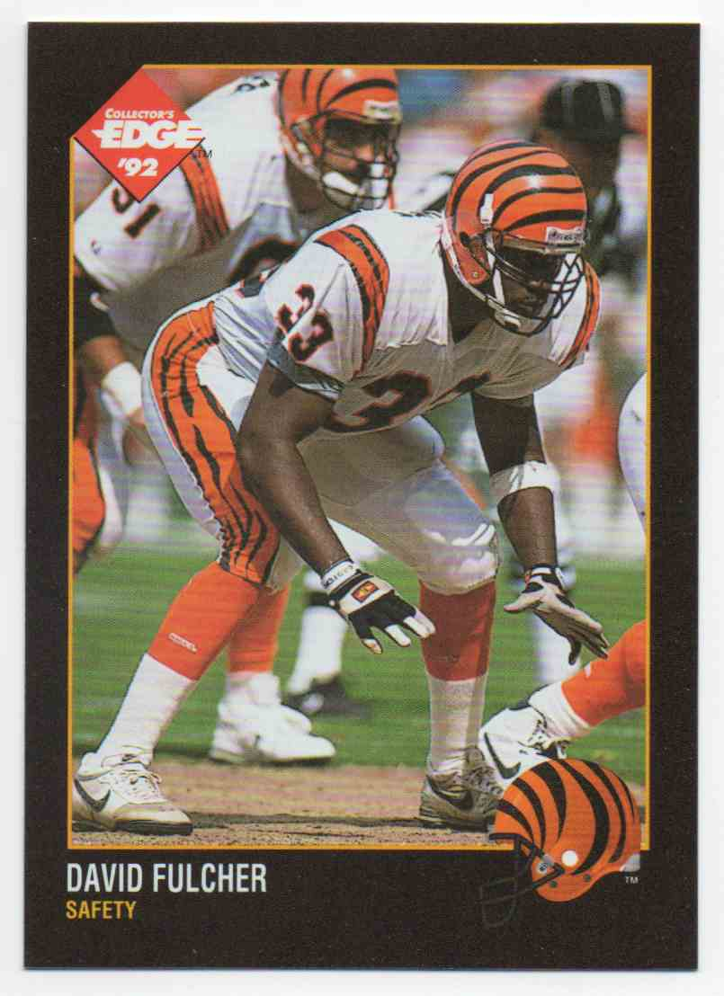 1992 Collectors Edge David Fulcher #20 card front image