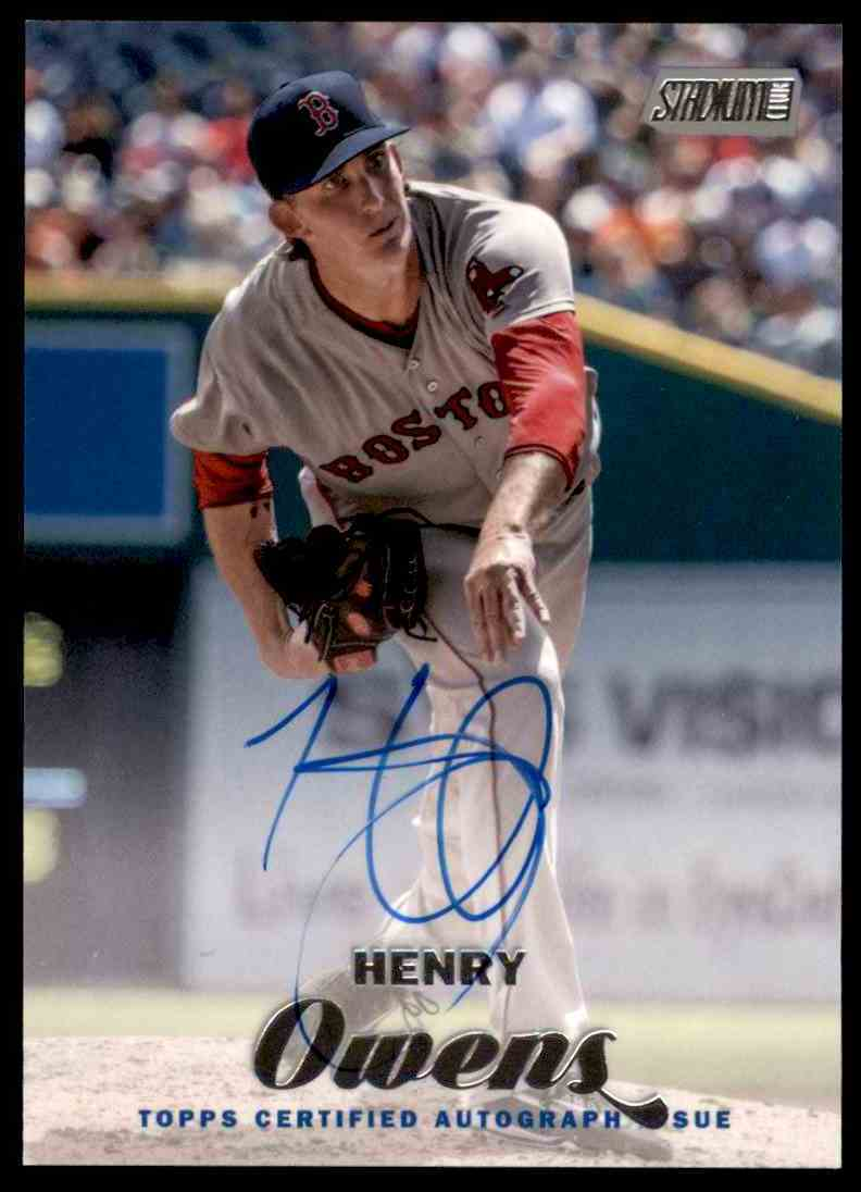 2017 Topps Stadium Club Henry Owens #SCA-HO card front image