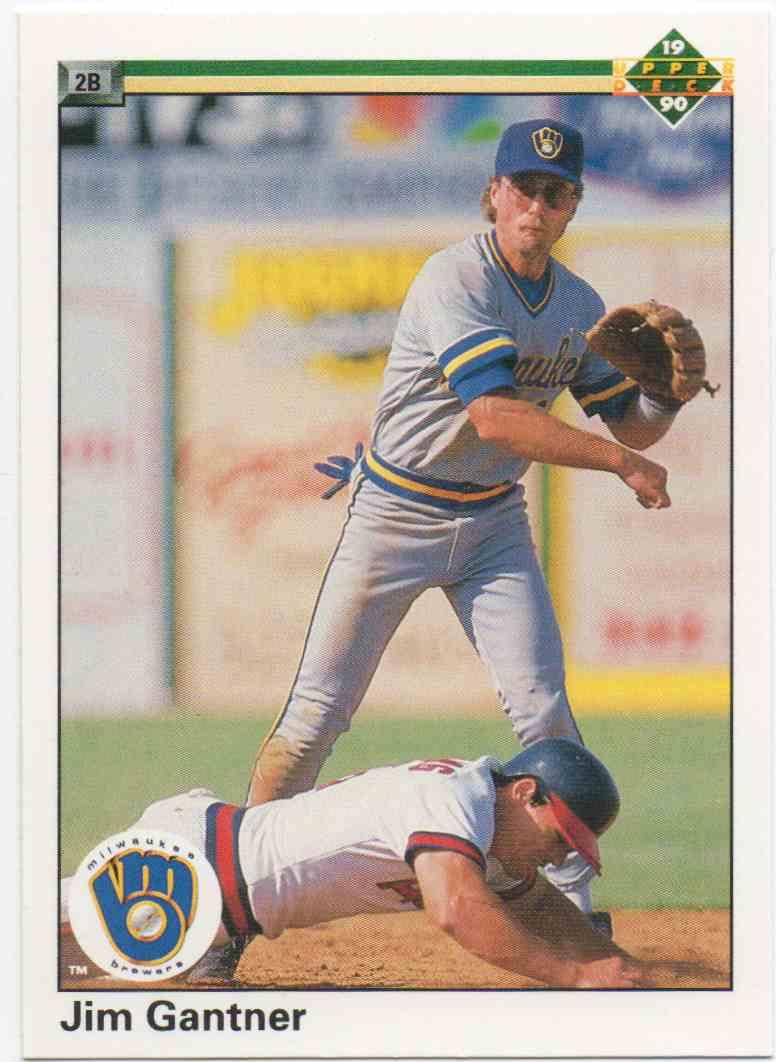 1990 Upper Deck Jim Gantner #218 card front image