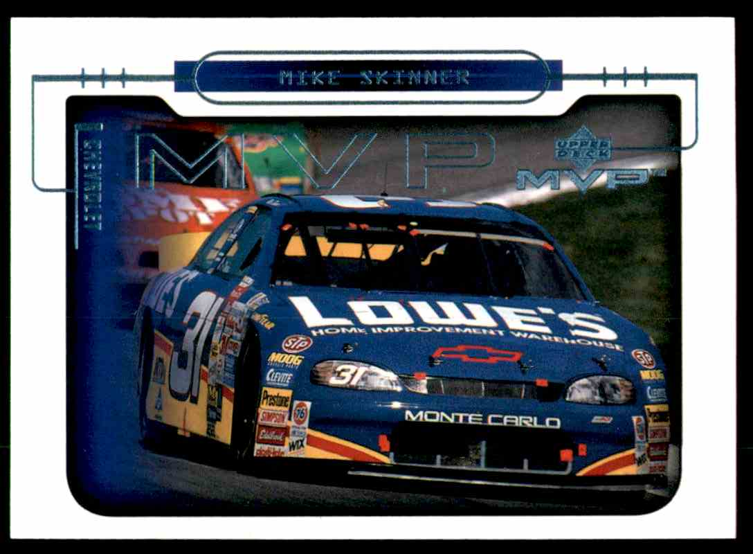 2000 Upper Deck MVP Mike Skinner's Car #82 card front image