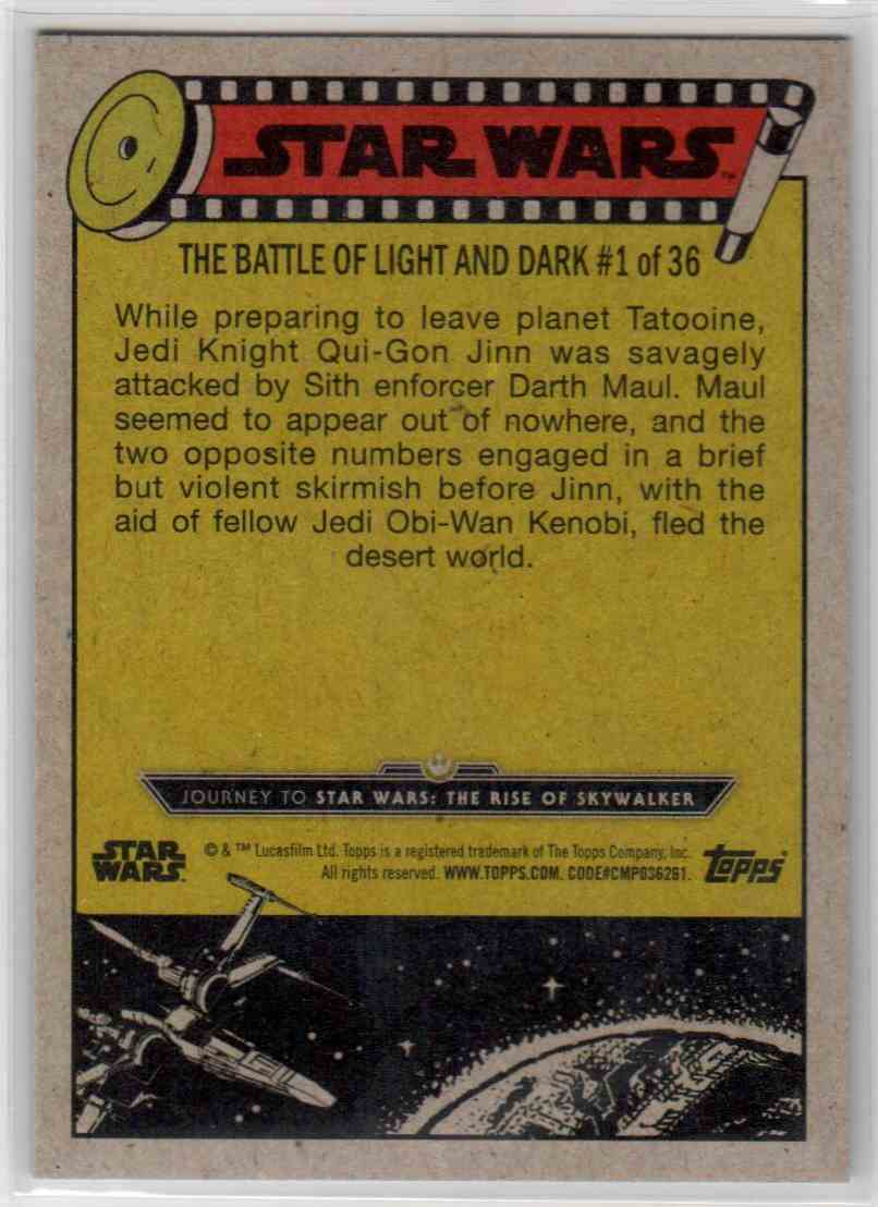 2019 Topps Star Wars Journey To Rise Of Skywalker Attack On Tatooine #55 card back image