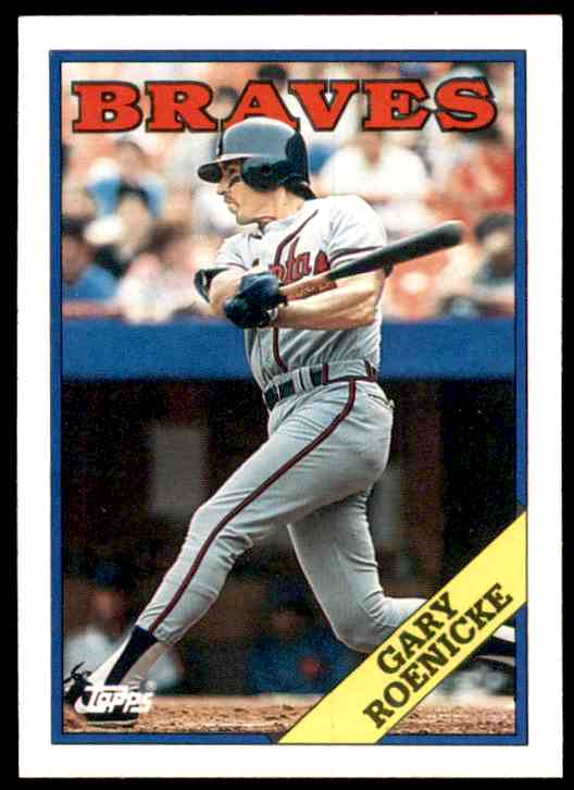 1988 Topps Gary Roenicke #523 card front image