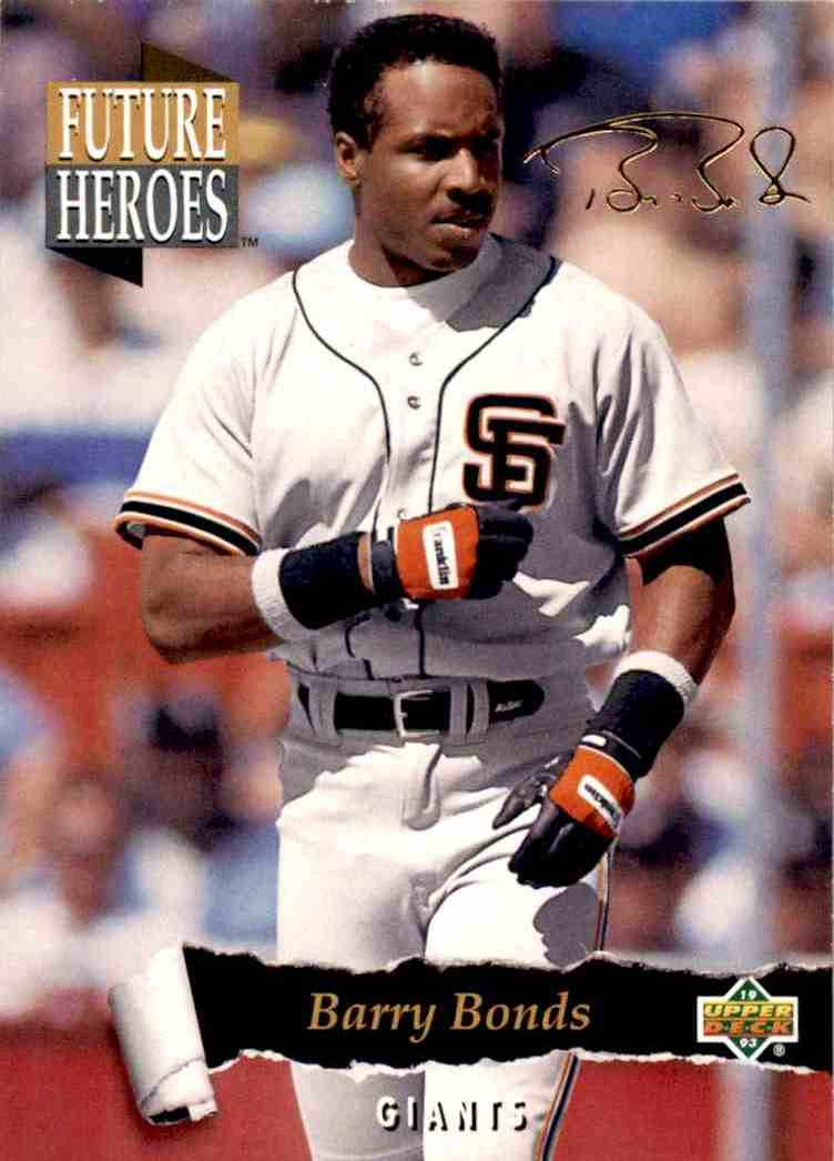 1993 Upper Deck Series 2 Future Heros Barry Bonds #56 card front image