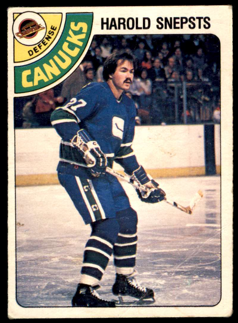 1978-79 OPC Harold Snepsts #380 card front image