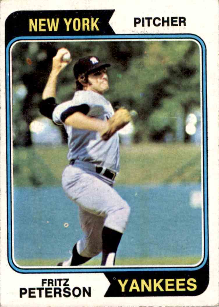 1974 Topps Fritz Peterson #229 card front image