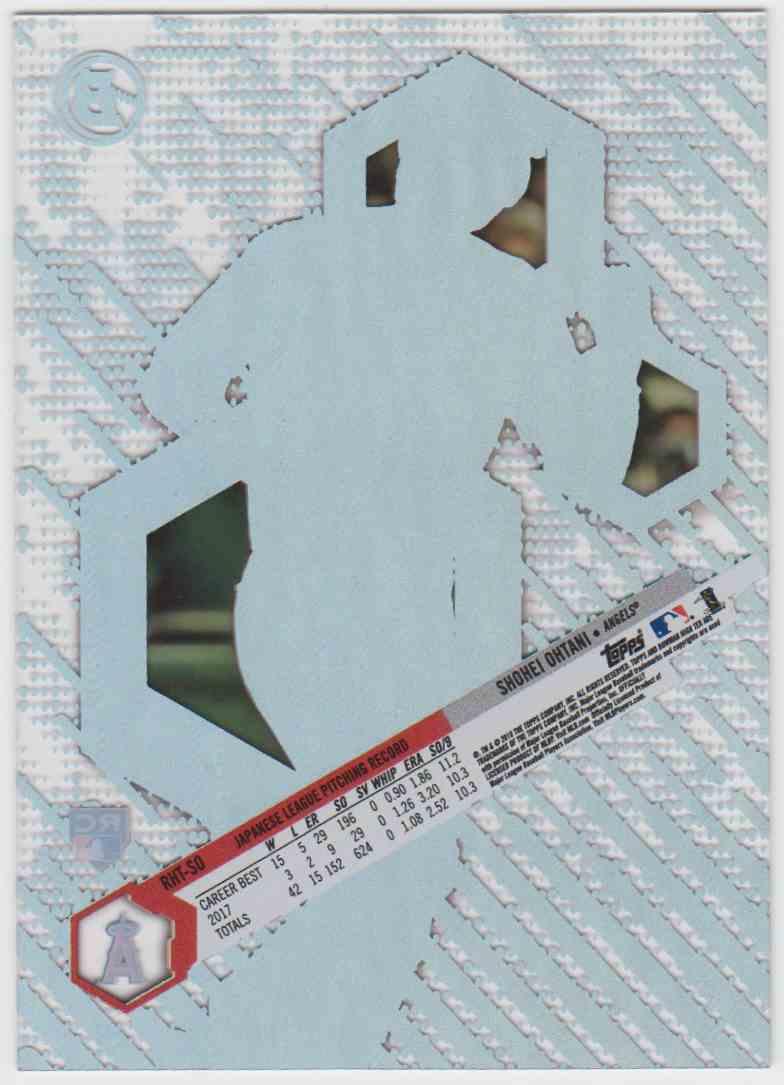 2018 Bowman High Tek Prospects Shohei Ohtani #PHT-SO card back image