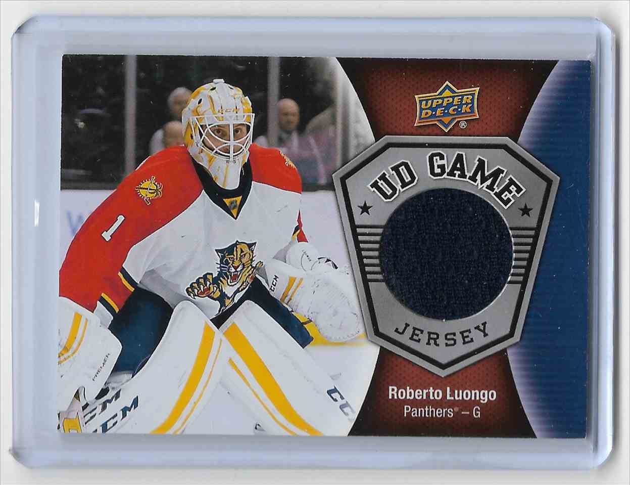 2016-17 Upper Deck Roberto Luongo #GJ-RL card front image