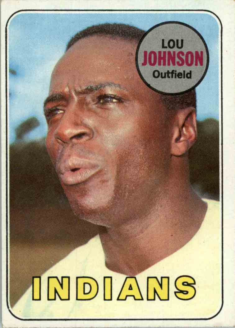 1969 Topps Lou Johnson #367 card front image