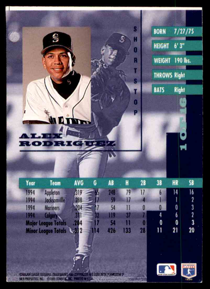 1995 Leaf Gold Leaf Rookies Alex Rodriguez 1 Of 16 On Kronozio