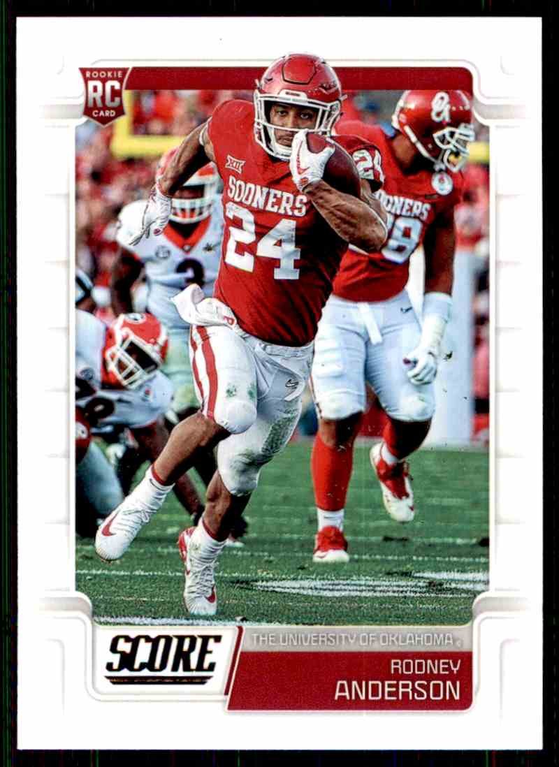 2019 Score Rodney Anderson #340 card front image