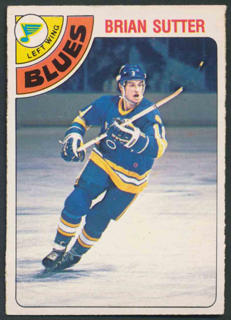 1978-79 O-Pee-Chee Brian Sutter #319 card front image