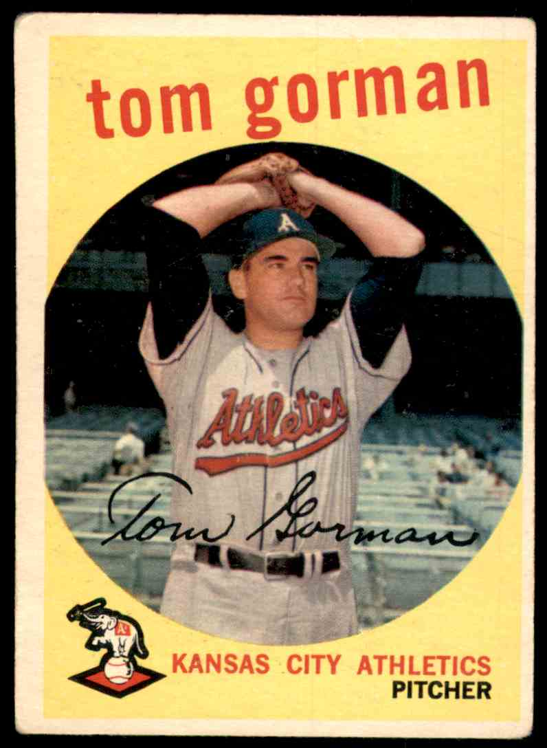 1959 Topps Tom Gorman #449 card front image