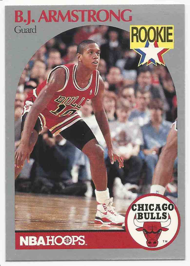 1990-91 NBA Hoops B.J. Armstrong #60 card front image