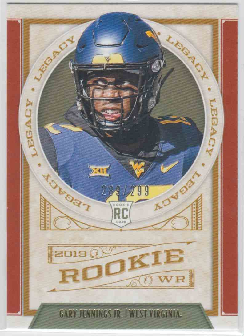2019 Panini Legacy Rookie Red Gary Jennings JR. #167 card front image