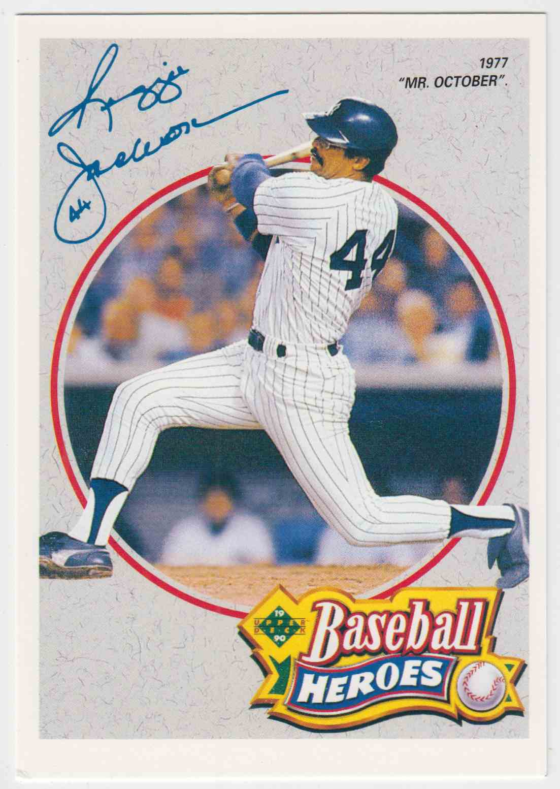 1990 Upper Deck Baseball Heroes Jumbo Reggie Jackson #3 card front image