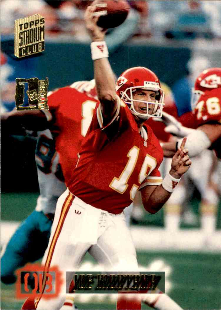 1994 Stadium Club First Day Joe Montana #160 card front image