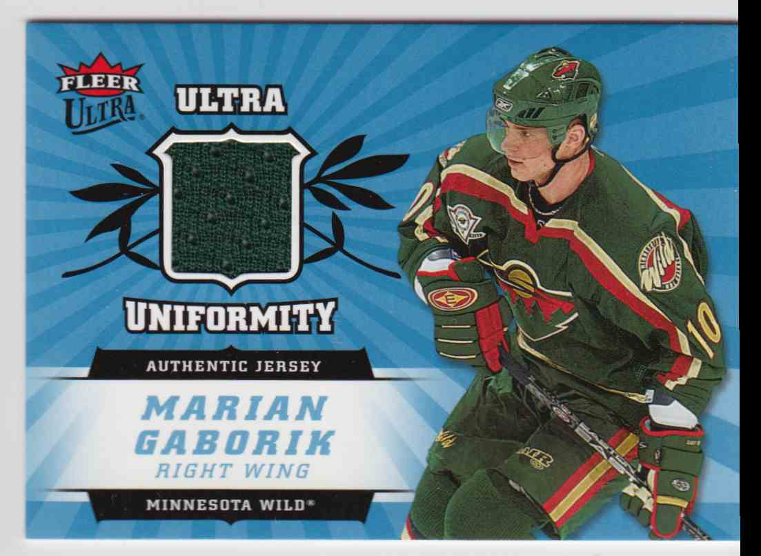 2006-07 Ultra Uniformity Jersey Marian Gaborik #U-MG card front image