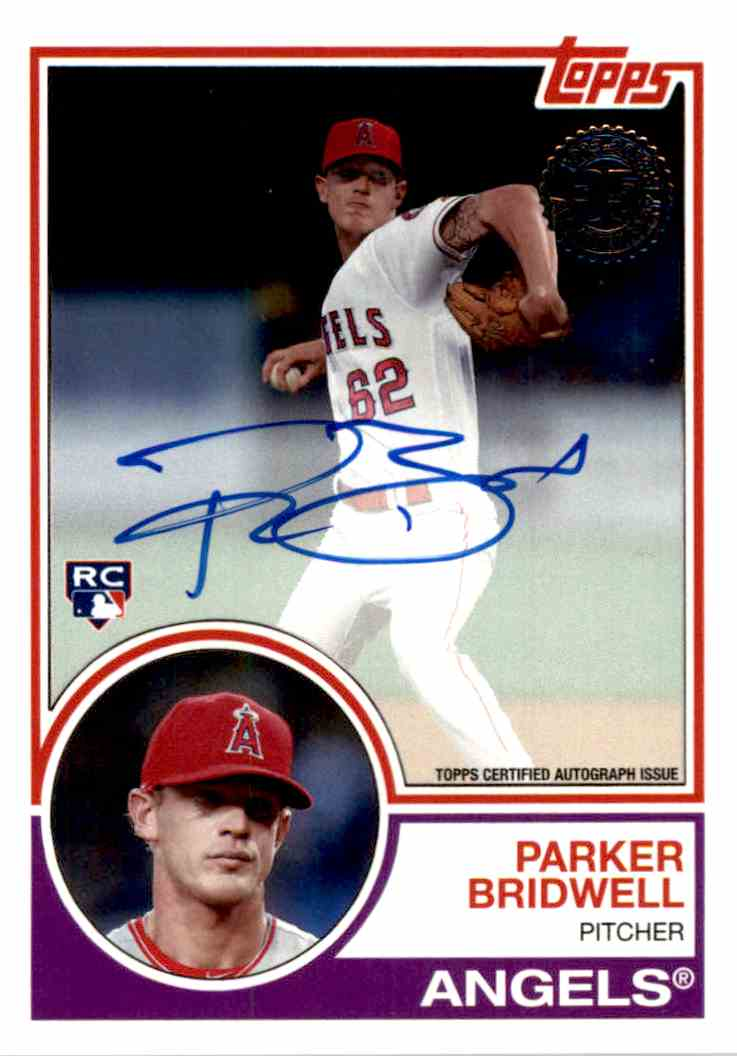 2018 Topps Parker Bridwell card front image