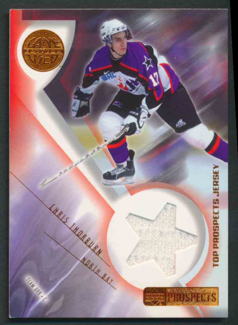 2001-02 Upper Deck CHL Prospects Chris Thorburn #J-CT card front image