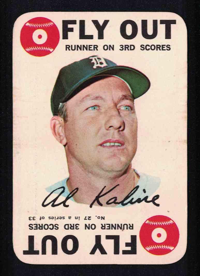 1968 Topps Al Kaline EX #27 OF 33 card front image