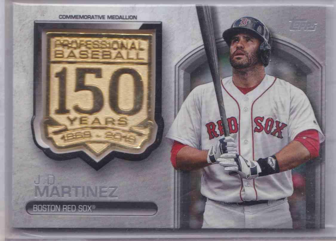 2019 Topps Baseball 150th Anniversary Commemorative Medallion J.D. Martinez #AMM-JM card front image