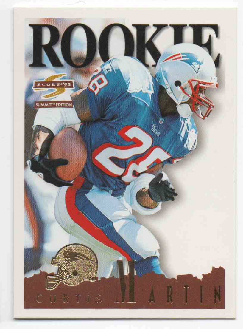 1995 Summit Curtis Martin #166 card front image