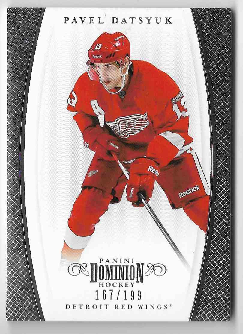 2012-13 Panini Dominion Pavel Datsyuk #8 card front image