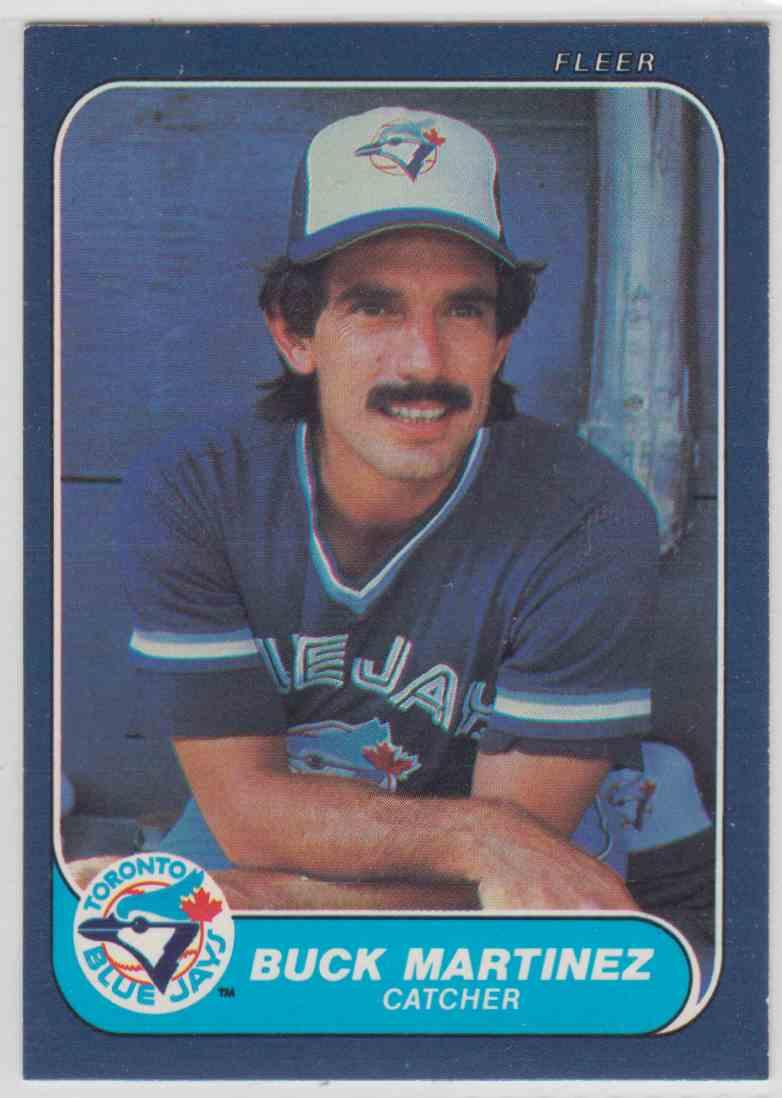 1986 Fleer Buck Martinez 66 On Kronozio