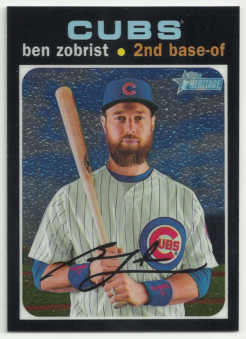 2020 Topps Heritage Chrome Ben Zobrist #505 card front image