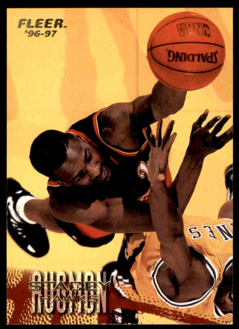 1996-97 Fleer Stacey Augmon #1 card front image